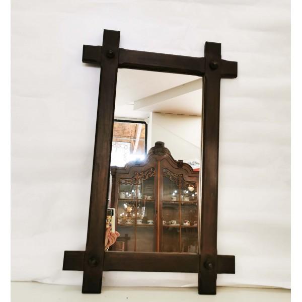 Правоъгълно дъбово огледало