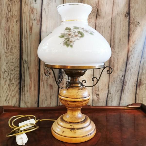 Настолна лампа антик от дърво