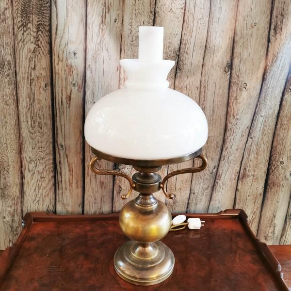 Настолна лампа антик от месинг
