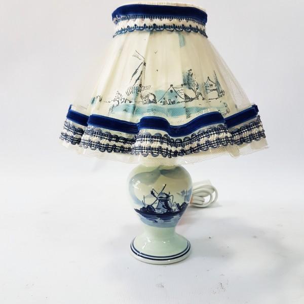 Малка настолна лампа Блу Делфт
