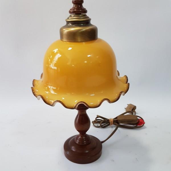 """Настолна лампа """"Антик"""" в жълто"""