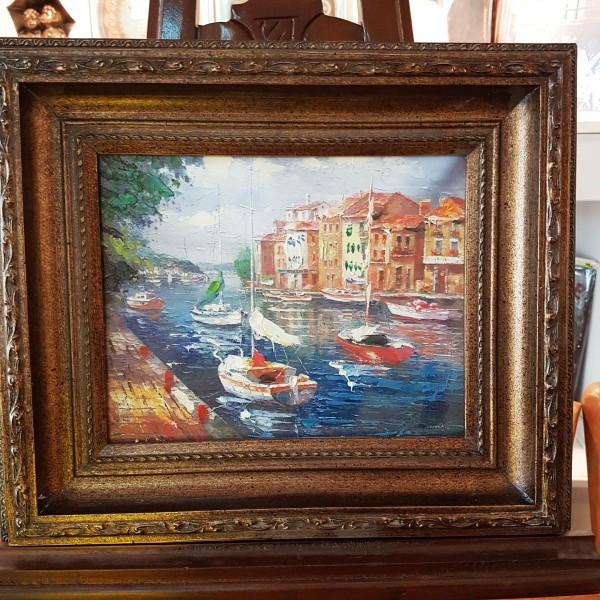 Картина с лодки