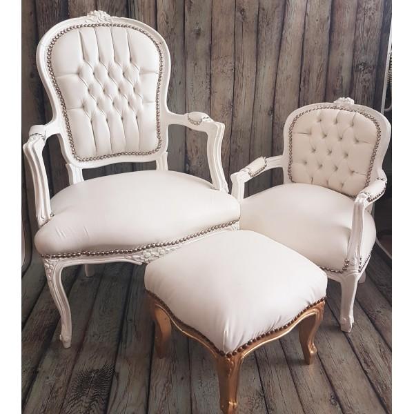 Кресло барок в бяло