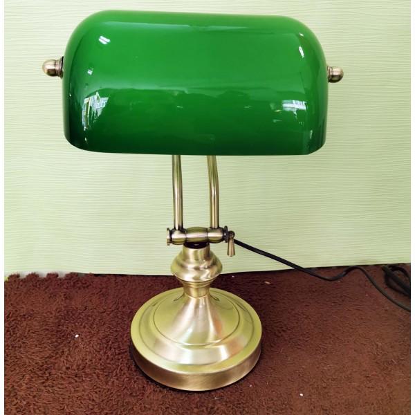 """Настолна лампа """"Банкер"""" (зелена)"""