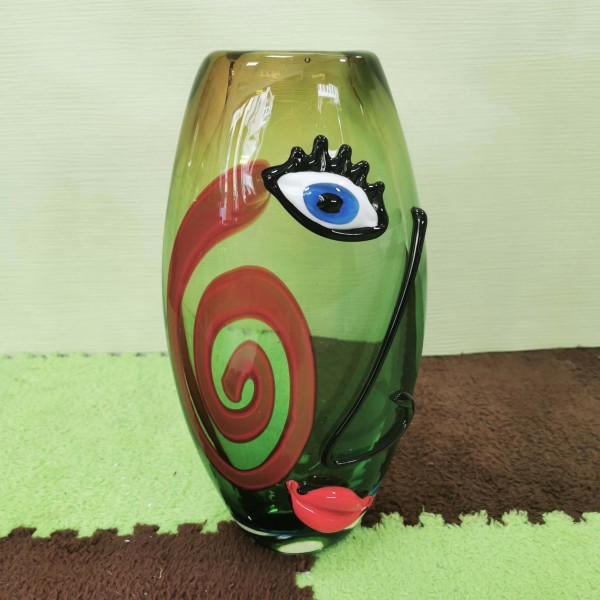 """Ваза от арт стъкло """"Picasso lady"""""""