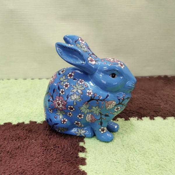 Синьо порцеланово зайче
