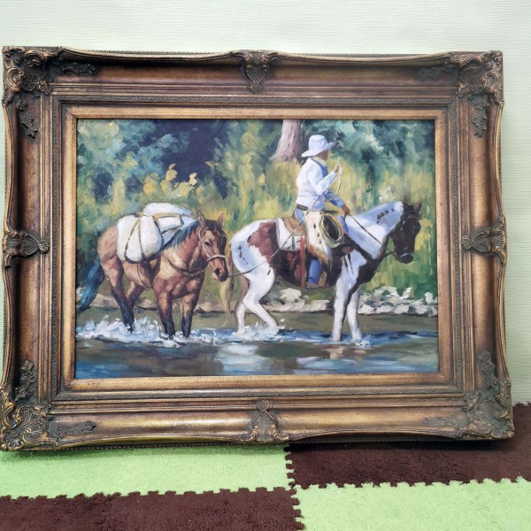 """Голяма картина """"Каубой с коне"""""""