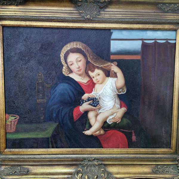 """Голяма репродукция """"The Virgin of the Grapes"""""""