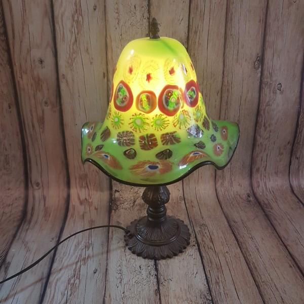Настолна лампа арт-стъкло