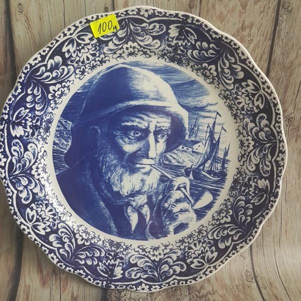"""Голяма чиния за стена """"Дядо с лула"""""""