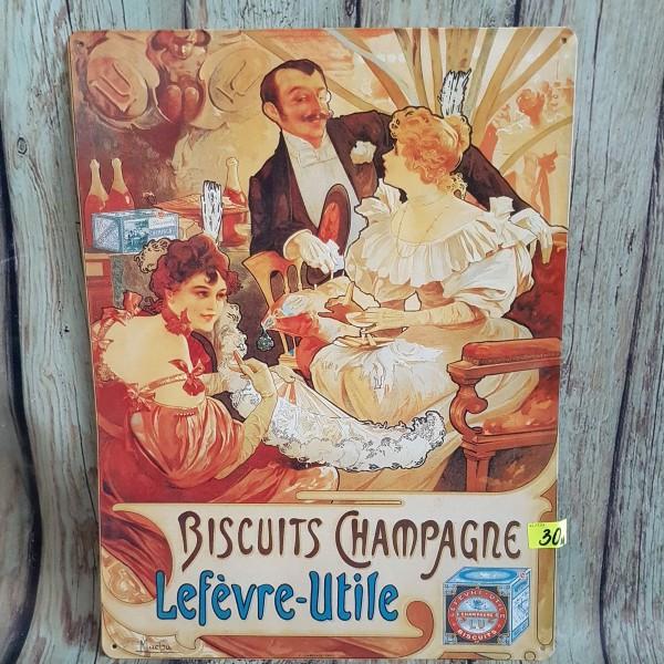 """Метален плакат """"Бисквити и шампанско"""""""