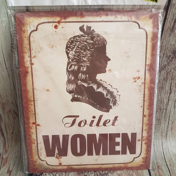 """Метална табелка за тоалетна """"Дами"""""""