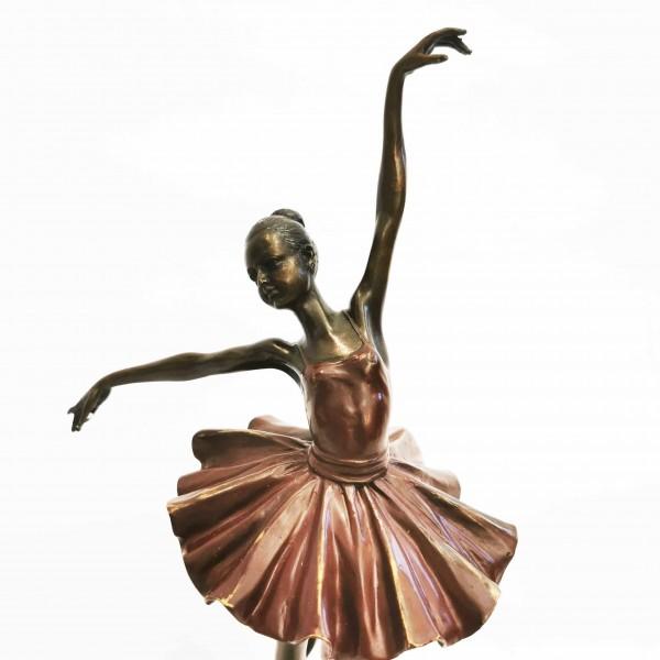 Бронзова пластика балерина с маркировка