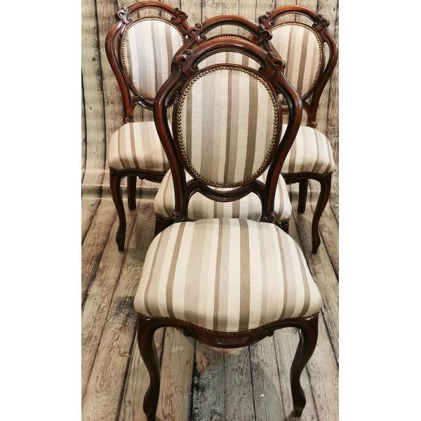 4бр. барокови столове