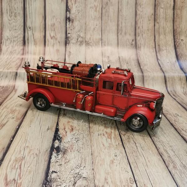 Метална ретро пожарна кола голяма