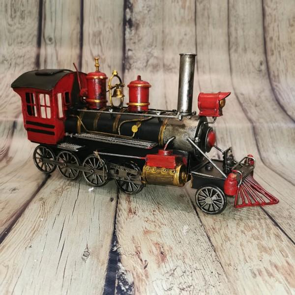 Метален ретро локомотив голям